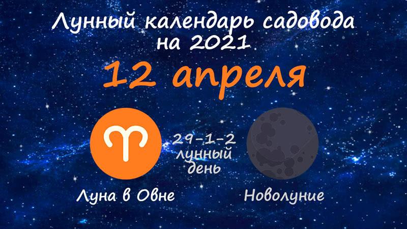 Лунный календарь садовода-огородника на 12 апреля 2021 года