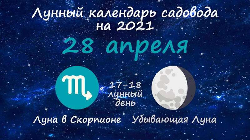 Лунный календарь садовода-огородника на 28 апреля 2021 года
