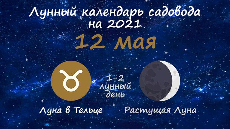 Лунный календарь садовода-огородника на 12 мая 2021 года