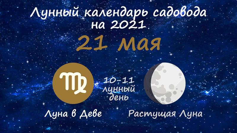 Лунный календарь садовода-огородника на 21 мая 2021 года