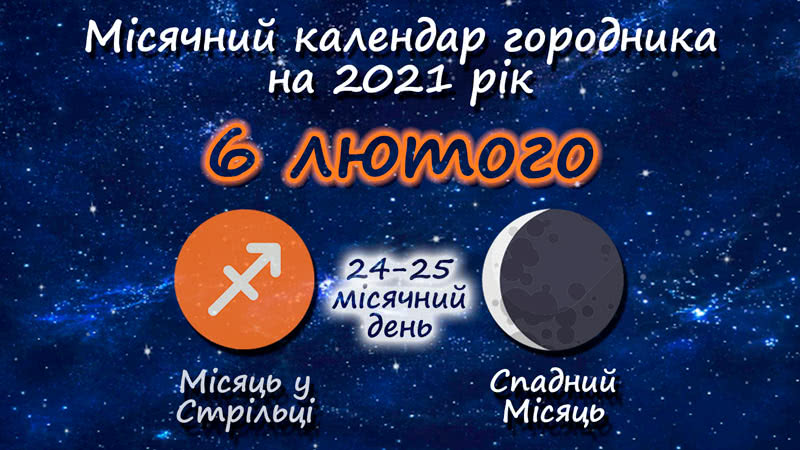 Місячний календар садівника-городника на 6 лютого 2021 року