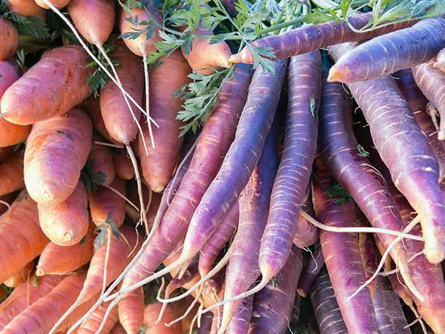 Помаранчева і фіолетова морква