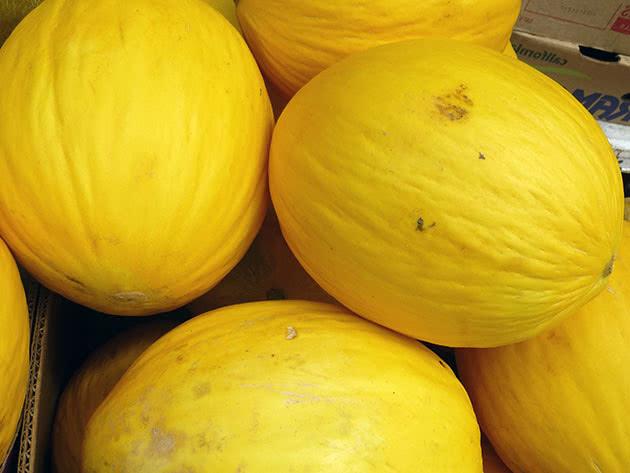 Жовті плоди дині