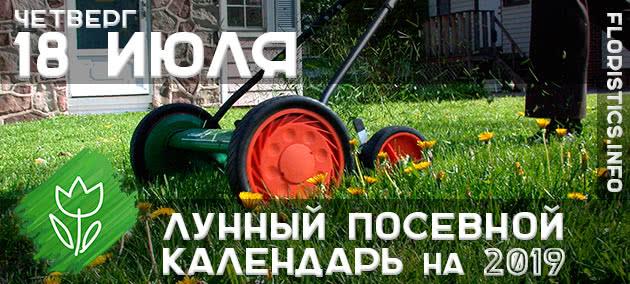 Лунный календарь садовода-огородника на 18 июля 2019 года